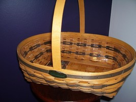 Longaberger 1998 Edition Hospitality Basket w/ liner Traditions Collection - $25.73