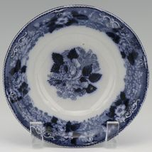 """Adams & Co. Staffordshire Blue Transfer Ware Wild Rose 6 1/4"""" Bowls - a set of 3 image 5"""