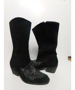 Original Dr. Scholl's Suede Lasso Western Boots size 7  - $39.59
