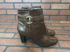 Ralph Lauren Ankle Boots Brown Leather Size 8 - $54.23