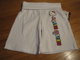 Filles Hello Kitty Blanc Long Short 3 3T Bébé Neuf HK55258A Nwt ^^ - $13.46