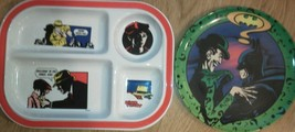 Set of 2 melmac Plates Batman Joker Dick Tracy Divided Crime Doesn't pay... - $17.61