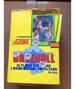 NEW 1990 Score Baseball Box 36 Sealed Packs Sosa,Thomas, Bo Jackson Rook... - $42.95