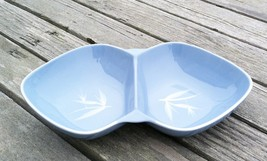 Vintage Winfield BLUE PACIFIC Bamboo Divided Dish Vegetable Serving Bowl USA Cal - $18.80