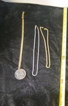 Lot of 3 Necklaces Chokers and Bicentennial Pendant  w American Eagle - $7.58