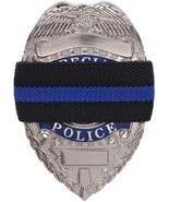 Black Thin Blue Line Elastic Police Law Enforcement Officer Badge Mourni... - $6.19