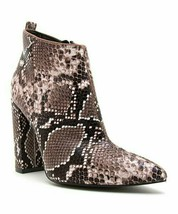 Qupid, Brown & Beige Snake Print Signal Ankle Boot, Sz 6 - $25.74
