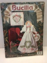 """Nicole Doll Kit Bucilla Stamped Embroidery Christmas 83105 1993 14""""T  New - $14.01"""