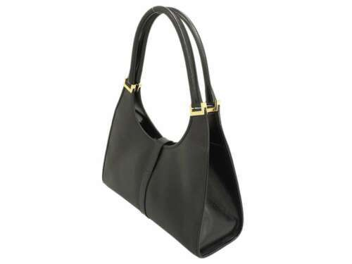 8a567a93bf96 12. 12. Previous. GUCCI Shoulder Bag Jackie Leather Black 002.1067 Handbag  Italy Authentic 5334056