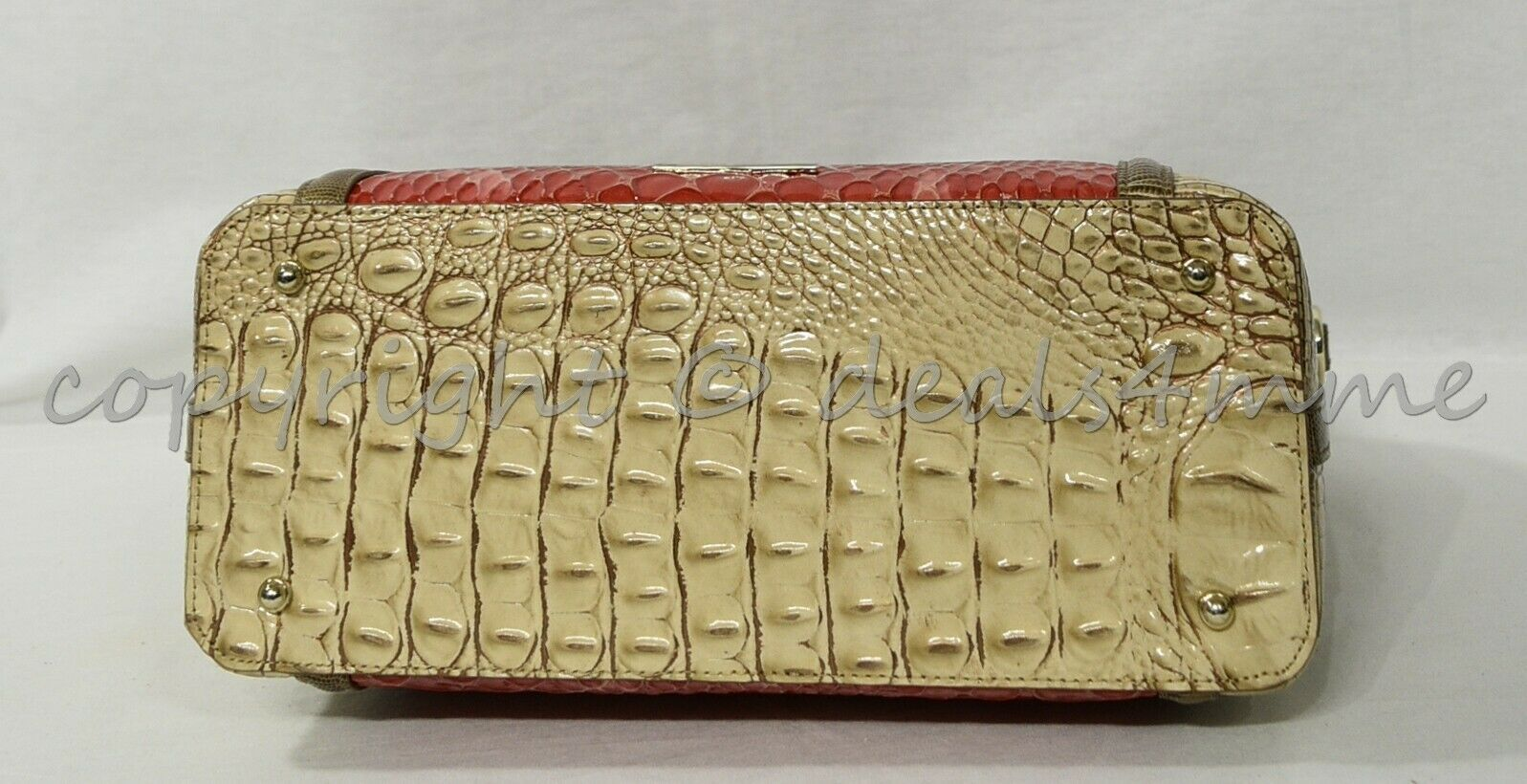 NWT Brahmin Large Duxbury Satchel/Shoulder Bag in Candy Apple Carlisle image 9