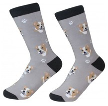 Pitbull tan Socks Unisex Dog Cotton/Poly One size fits most Pit Bull - $11.99