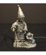 Limited Signed Michael Ricker Pewter  Tracy CLOWN & Hush Puppy Figurine - $21.00