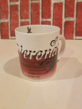 Starbucks 1998 Caffe Verona Pensione Veccio Mug Cup My Thoughts Used  - $10.65