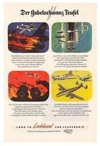 Lockheed P-38 Lightning Der Gabelschwanz-Teufel '40s B-17 Original Ad Pa... - $14.50
