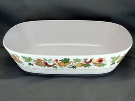 "Noritake Homecoming Vegetable Serving Bowl 9.5"" Birds Fruit Progression ... - $18.05"