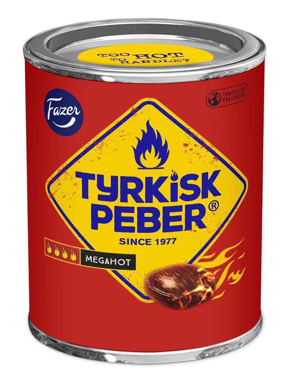 Tyrkisk Peber Megahot 300g tin (SET OF FIVE) FAZER Finland - $64.34