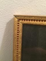 """Vintage 40s gold ornate 5"""" x 7"""" frame with red under front gold design image 3"""