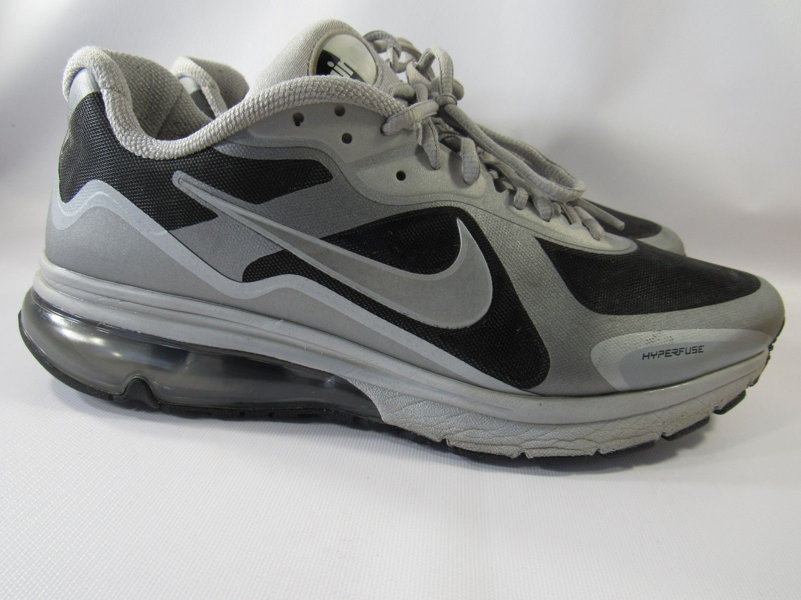 the best attitude aa340 a1438 ... Nike Air Max Hyperfuse 454347-090 Size 12 M Black Silver Running Mens  Shoes ...