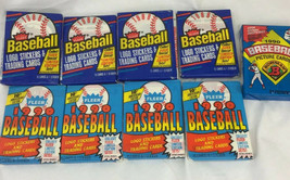 1988 1990 Fleer Baseball Wax Pack Stickers Cards 9 Unopened Packs 151 Cards - $17.82