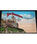 1940's SAN FRANCISCO CA Antique Souvenir POSTCARD FOLDER Mission News 6.... - $15.99
