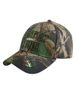 Outdoor Camouflage Fishing Cap 3D Letter Shut Up And Fish Fish Camo Base... - $11.43