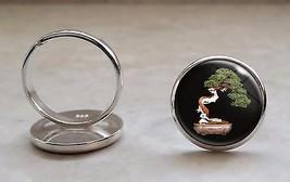 925 Sterling Silver Adjustable Ring Nature Bonsai Tree Japanese  - $34.65