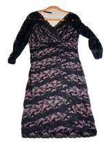 My Favorite Things Colleen Lopez Black Dress Layered Sequins Long Sleeve... - $22.97