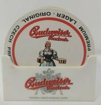 Beer Coaster Holder Budweiser Budvar Brewery Original Czech Premium Lager 21  - $47.49
