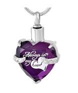 constantlife Cremation Jewelry for Ashes Beautiful Heart Shape Stainless... - $16.88