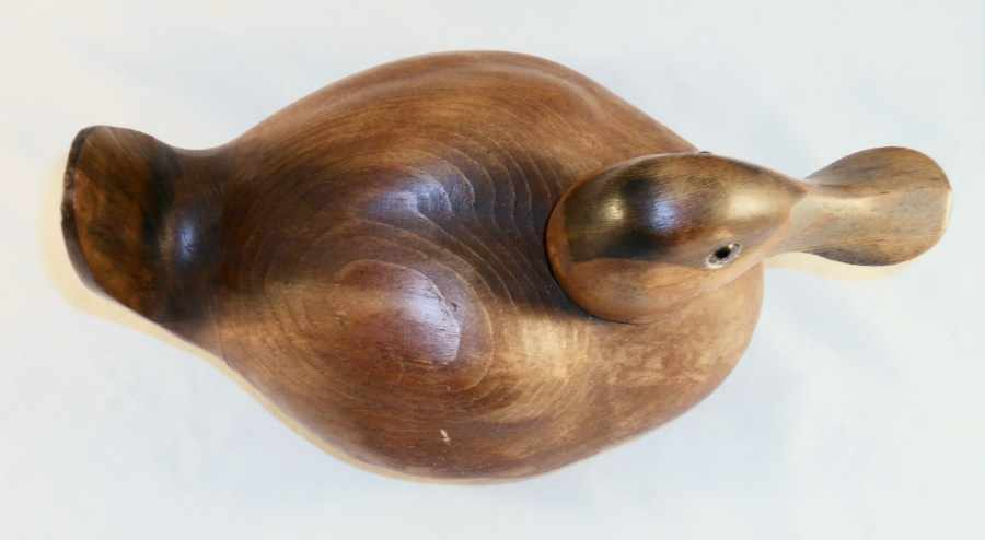 Decorative 1982 Dux' Dekes Carved Wood Ruddy Duck Decoy Signed by Jeff W Duxbury