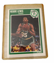 REGGIE LEWIS , BOSTON CELTICS 1989 FLEER NBA BASKETBALL CARD 10 ROOKIE C... - $6.76
