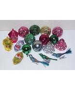 Lot of Vintage Plastic Christmas Ornaments Balls, Bells, Diorama, Clip-O... - $19.99