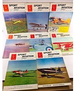 Vintage EAA SPORT AVIATION Monthly Magazine 8 issues 1963 - $26.72
