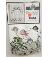 """3pc. Embroidery Curtains Set:2 Tiers (30x36"""") & Swag (60x36"""") FAT CHEF, ... - $22.76"""