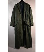 Zara Woman Green Satin Finish 3 Button Coat Dress Jacket S/M Long - $29.70