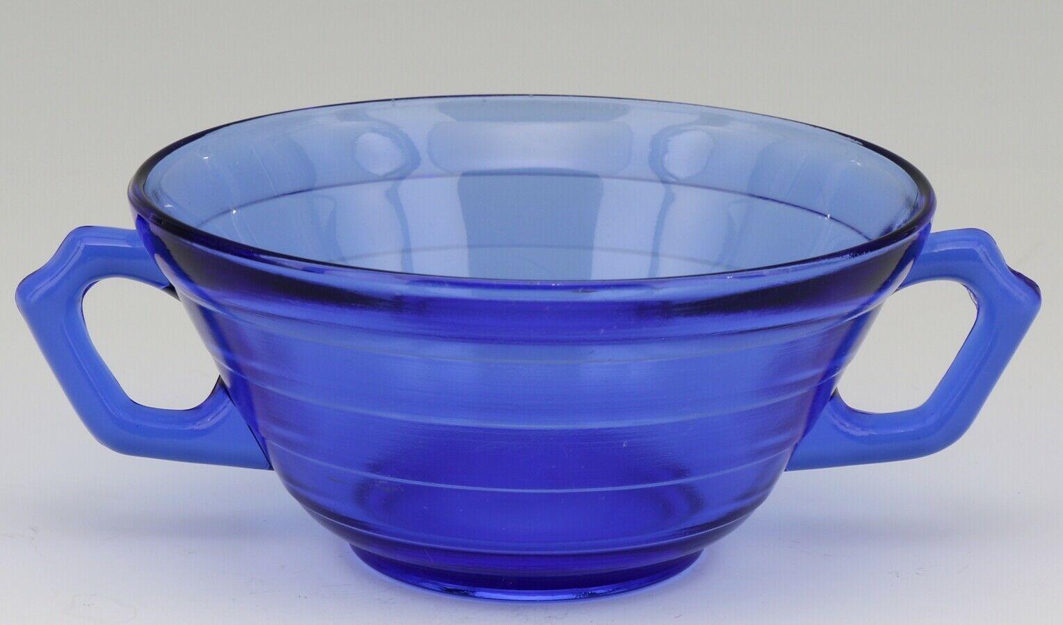 Hazel Atlas Cobalt Blue Moderntone Depression Glass Cream Soup