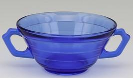 Hazel Atlas Cobalt Blue Moderntone Depression Glass Cream Soup image 1