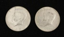 2 Kennedy Half Dollars 1967  Circulated Condition Philadelphia   #3 - $21.39