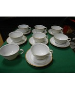 """Beautiful """"M"""" China from Japan...Set of 7 CUPS & SAUCERS & 1 FREE Cup - $19.39"""