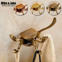 Mike&Jake Rotation three antique clothes rack cloth wall Robe Hook for B... - $37.95