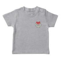 Cute Pocket Christmas Wreath  Boy's Heather Grey T-shirt - £12.87 GBP