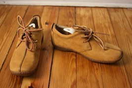 Born 39 8 Tan Split Toe Nubuck Leather Lace Up Oxfords - $24.70