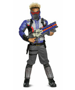 Overwatch Soldier 76 Classic Muscle Chest Child Boys Cosplay Costume SM-L - $22.50