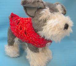 Pet Collar Scarf Dog Cat Red Variegated/Blue/Tan Tiny Handmade Crochet by Bren - $14.00