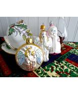 Set 3 Vintage Blown Glass Christmas Tree Ornaments 1970s Angels Poland G... - $28.00