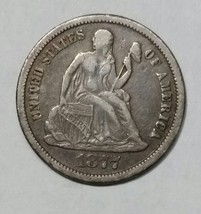 1877CC Seated Dime Silver 10¢ Coin Lot# MZ 4695