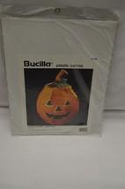 Bucilla Plastic Canvas 1994 #6129 Jack-O-Lantern Candy Dish Needlepoint Kit - $12.86