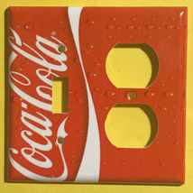 Coke Coca Cola Logo Light Switch Power Outlet wall Cover Plate Home decor image 10