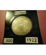 1922 ENGLISH FLORIN COIN   ** .500 SILVER **  > > S&H + TRACKING INCLUDE... - $5.24