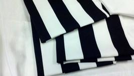 """BLACK WHITE STRIPED Table Runner,  Black white  Striped Runner, 11"""" wide... - $9.00"""
